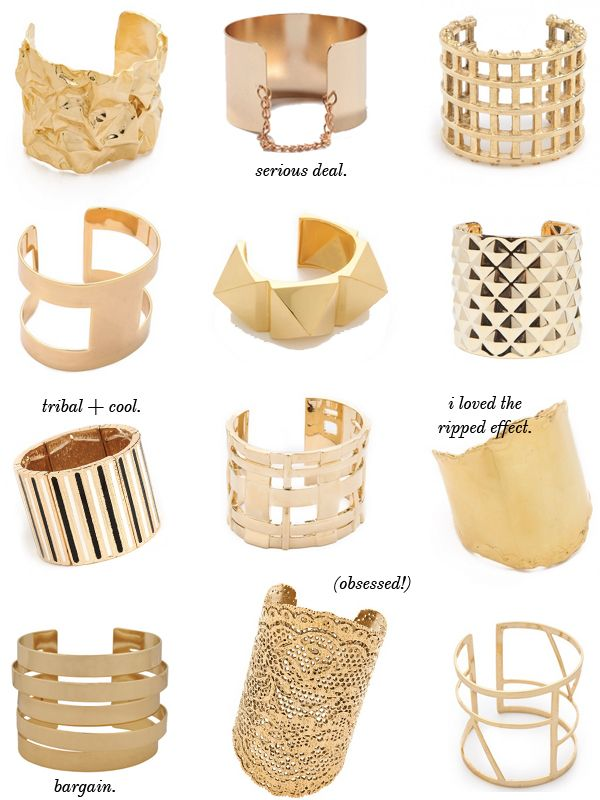 bold, statement cuffs... all you need is one.