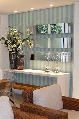 Combinação de espelho + papel de parede