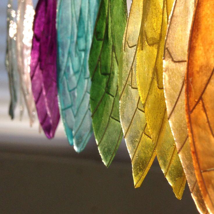 Les boucles d'oreilles en papier japonais Itajimezome-Washi en forme d'aile de cigale sont dans la boutique de Kami-art sur Etsy !