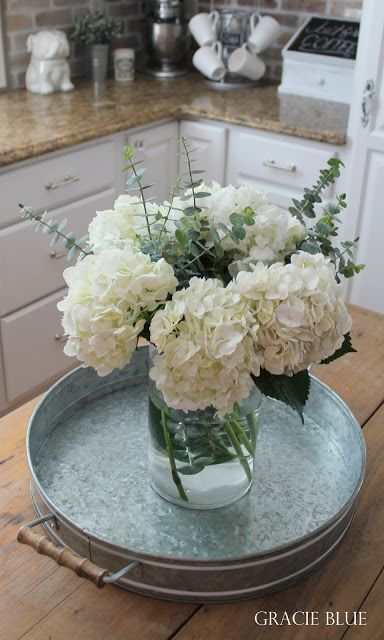 Get ready to tour the warm, cozy, charming farmhouse home of Gracie Blue today! From the white kitchen to the vintage chandelier...
