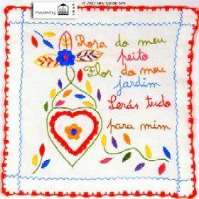 Portuguese traditional embroidey  - lenço dos namorados.