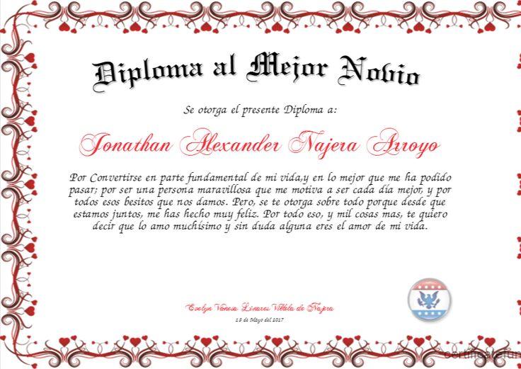 Diploma al Mejor Novio