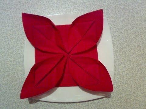Die besten 25+ Servietten falten lilie Ideen auf Pinterest - weihnachtsservietten falten