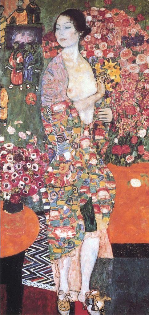 """""""Die Tänzerin,"""" by Klimt, 1916."""