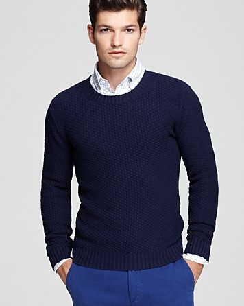 Gant Rugger Pineapple Knit Crewneck Sweater - Contemporary Designers: The Lab - Features - Men's - Bloomingdale's
