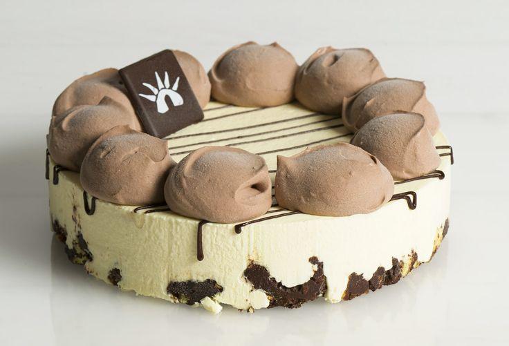 Frollina alla crema di nocciola al cacao: Crema dal 1947 semifreddo and crunchy short pastry with cocoa hazelnut cream ripple.