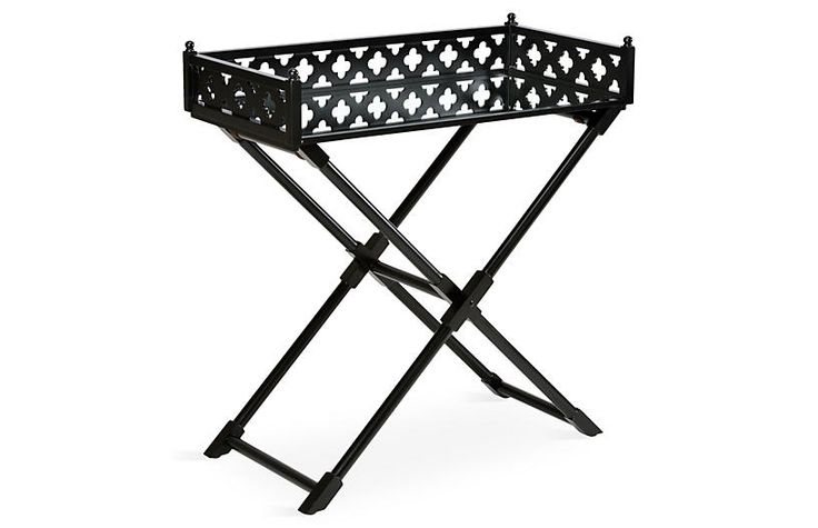 Ashley Mirrored Side Table, Black $689.00