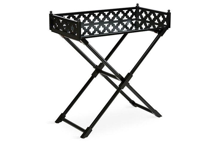 Ashley Mirrored Side Table, Black $689.00