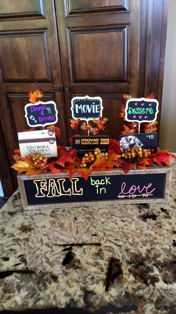 Fall date night gift basket!!                                                                                                                                                                                 More