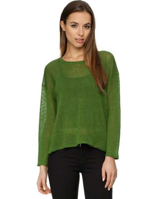 Green Name Game Jumper -   The Leaf Green Womens Jumper by Sass & Bide features dropped shoulders and loose fitting sleeves.  $190.00
