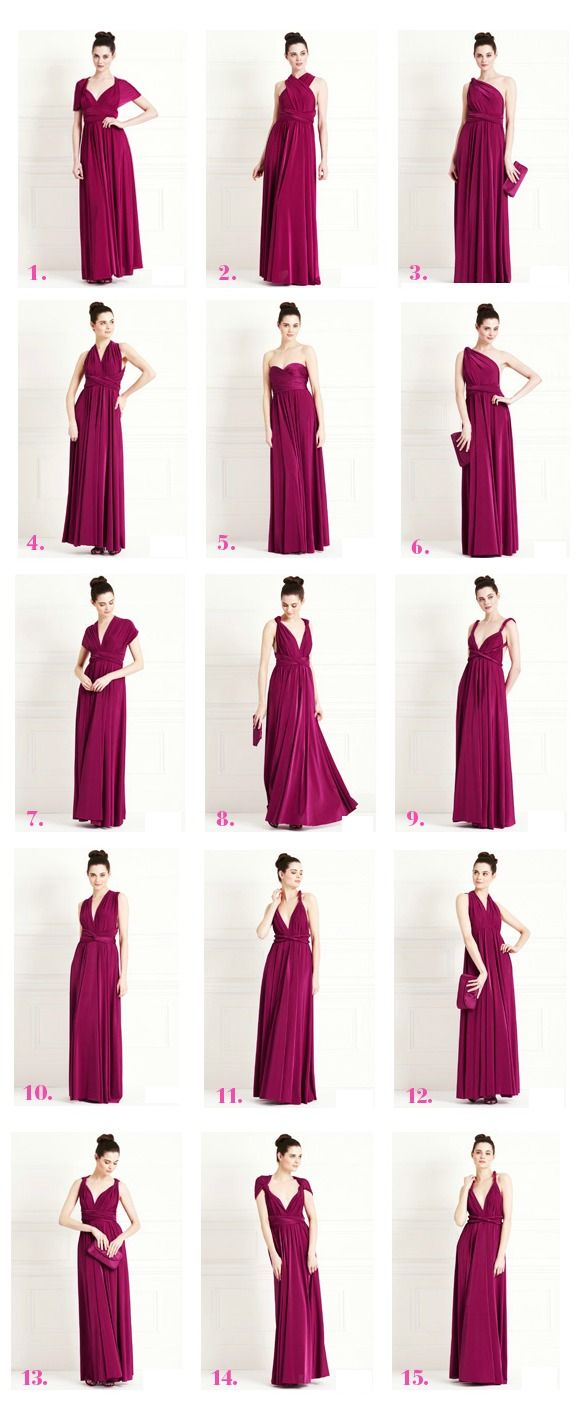 Versatile convertible multiway dresses for all occasions. Perfect for maternitywear, nursing occasion dresses and breastfeeding bridesmaid dresses.