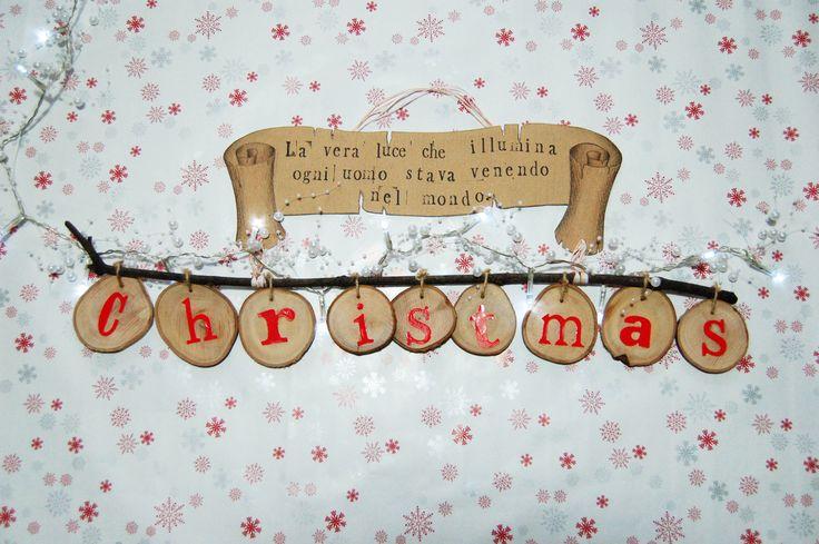 Decorazione Christmas in legno.