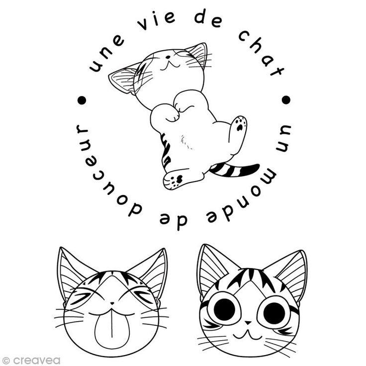 Mini tampon clear - Chi Une vie de chat - Set de 3 tampons transparents - Photo n°1