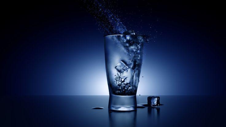 Glass & Water 3d design - by Marta Olszewska