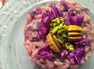 Cucinare che Passione: Risotto al cavolo cappuccio, noci pecan e pistacchi