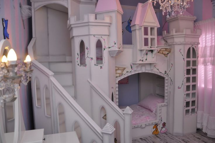 Princess room castle bed future idea for kids for Castle bedroom ideas