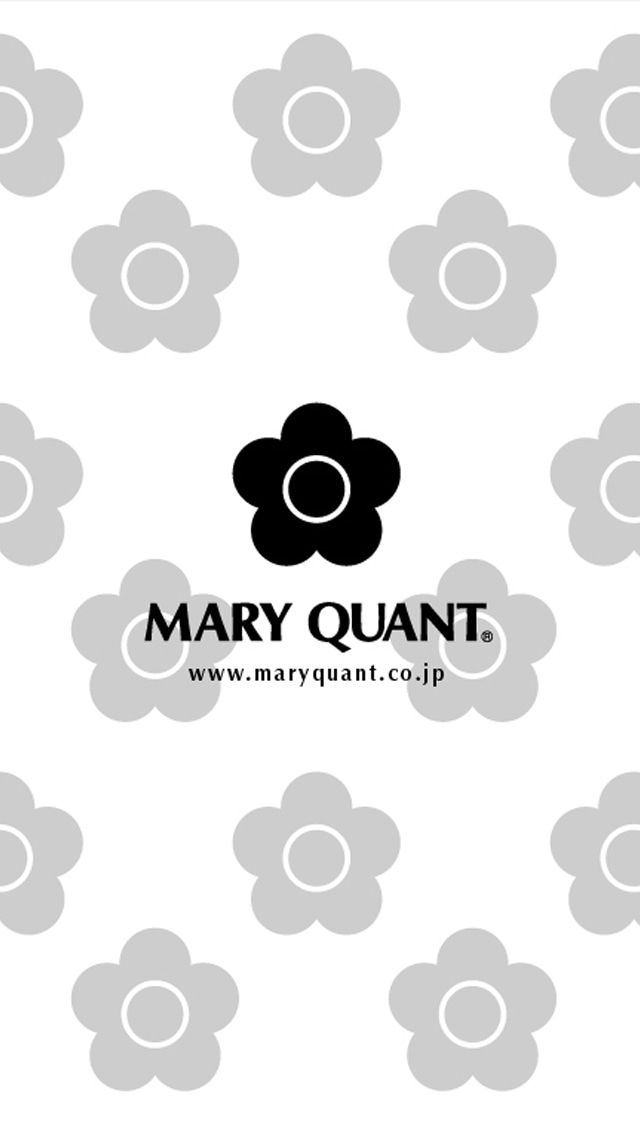 Iphone5壁紙121 Mary Quant マリークワント 壁紙 壁紙 Iphone シンプル 花 イラスト