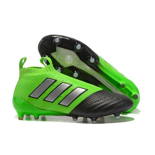 the best attitude edb6b 992b4 Adidas ACE 17 PureControl FG Botas De Futbol Verde Plata Negro   Adidas  Soccer Shoes   Pinterest   Football shoes, Adidas soccer shoes and Soccer  shoes