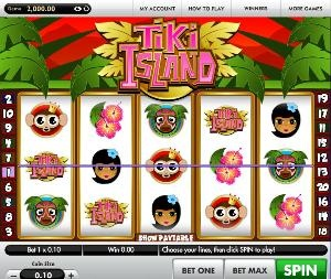 Tiki Island slot machine is a 5 line 20 reel slots game with a progressive jackpot from Gamesys. This video slot machine comes with bright graphics and cute looking colourful fish. The slot game is based on the Disney movie Finding Nemo theme.