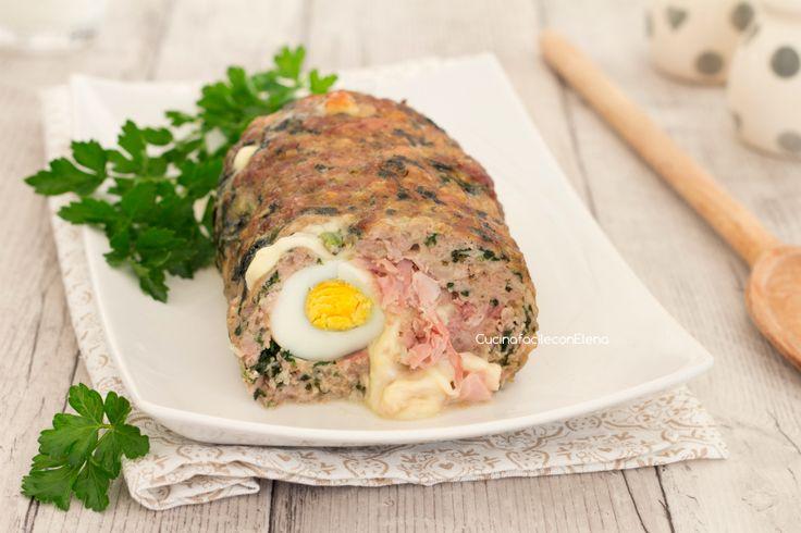 Polpettone+di+carne+e+spinaci+farcito