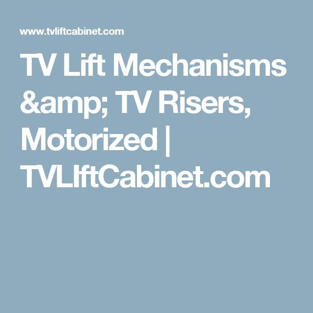 tv lift mechanisms u0026 tv risers motorized