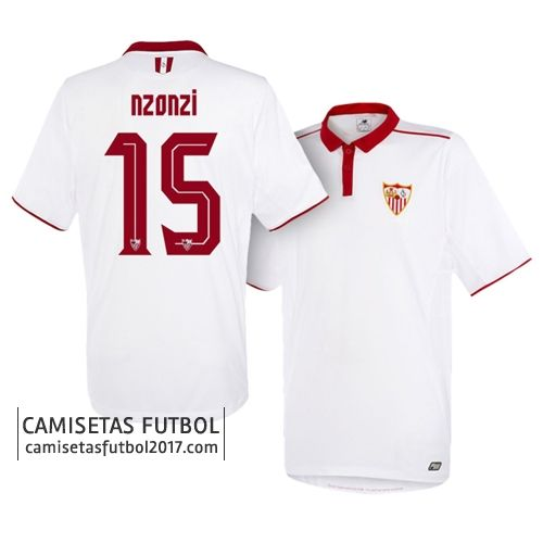 Primera camiseta NZONZI del Sevilla FC 2016 2017 Camiseta Sevilla FC 2018   Equipacion Sevilla FC 2018