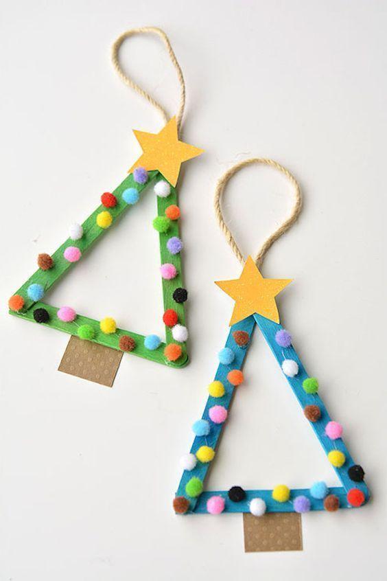 Weihnachtsdeko Mit Kleinkindern Basteln Christbaumchen Aus