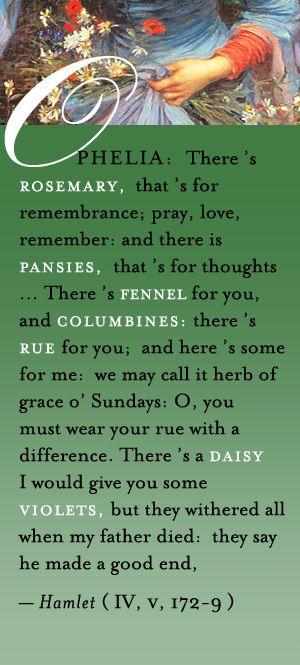 Ophelia's flower speech