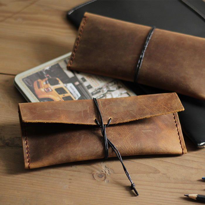 Genuine Leather Pencil Case