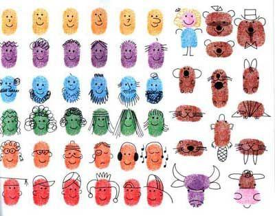 Учимся рисовать Как научить ребенка рисовать красками, отпечатки пальцев
