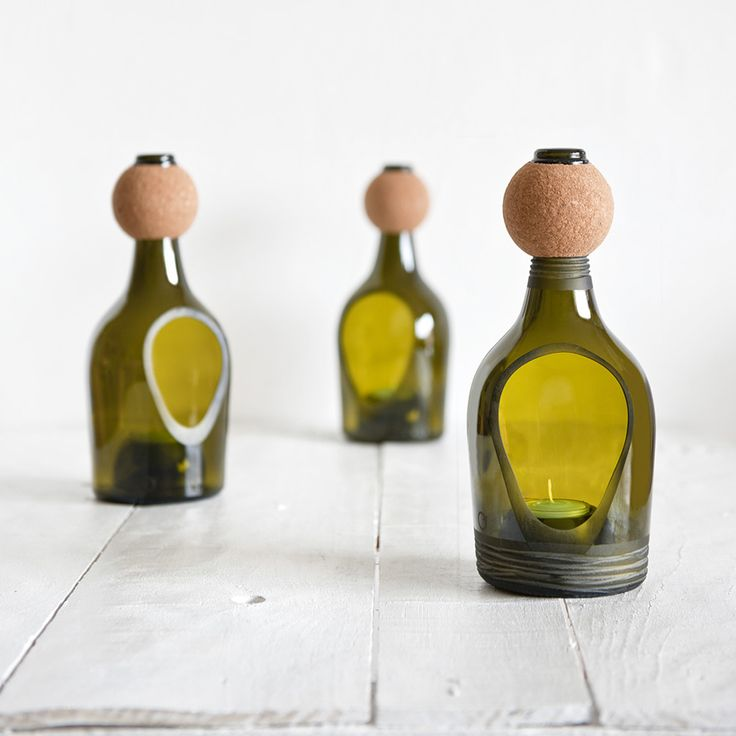 nino candle lantern by lucia bruni: Recycled Bottle, Recycled Glass, Nino Candles, Glasses, Bottle Candles, Candle Lanterns, Wine Bottle, Recycled Candles, Candles Lanterns