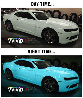 Vvivid 3mil 1ft X 5ft Glow In The Dark Blue Green Car Wrapping Vinyl Ebay Dark Blue Green Car Wrap Green Car