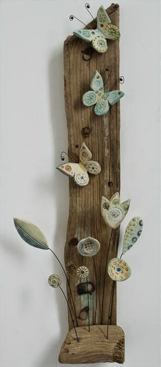 "K   αι  όχι μόνο με θαλασσόξυλα. Χρησιμοποιείστε μαζί καικάθε είδους παλιό ""άχρηστο"" κομμάτι ξύλου που μπορεί να βρείτε πεταμένο..."