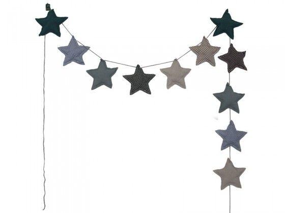 Blue Mini Star Garland