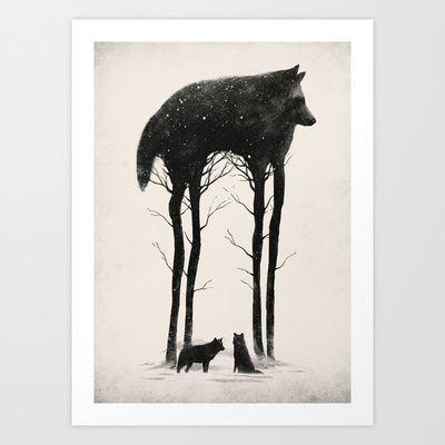 Standing Tall Art Print by DB Art - $19.00