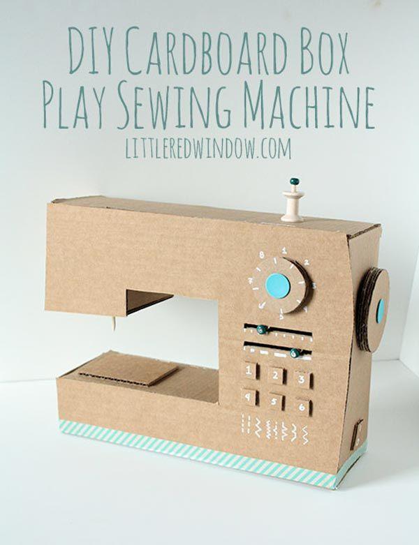 Fabriquez une machine à coudre… en carton