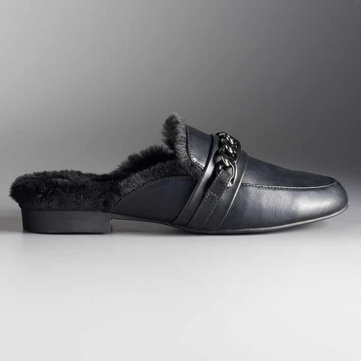 Simply Vera Vera Wang Geona Women's Slide Mules, Size: 7.5, Black