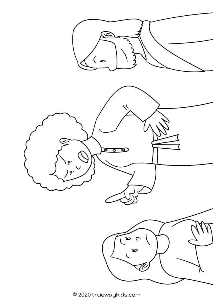 Mary and Martha coloring page in 2020   Mary and martha ...