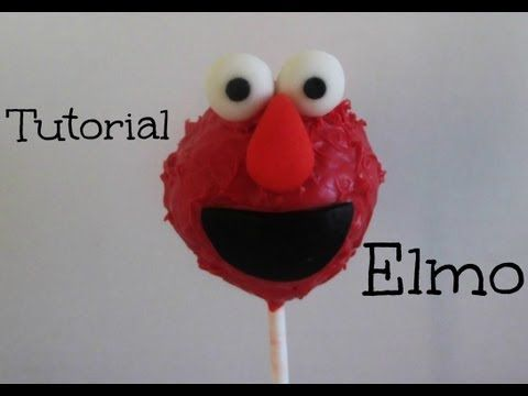 ▶ Paleta De Pastel **ELMO**(Cake Pop) Tutorial - YouTube