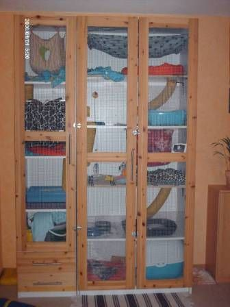 Love this idea for a ferret cage!