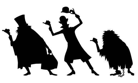 Haunted Mansion's Hitchhiking Ghosts silhouette