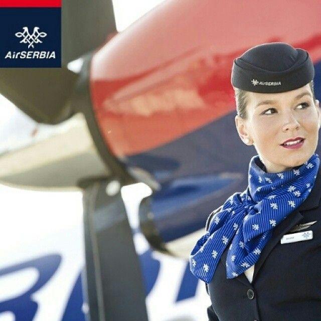 Air Serbia Stewardess @air_serbia