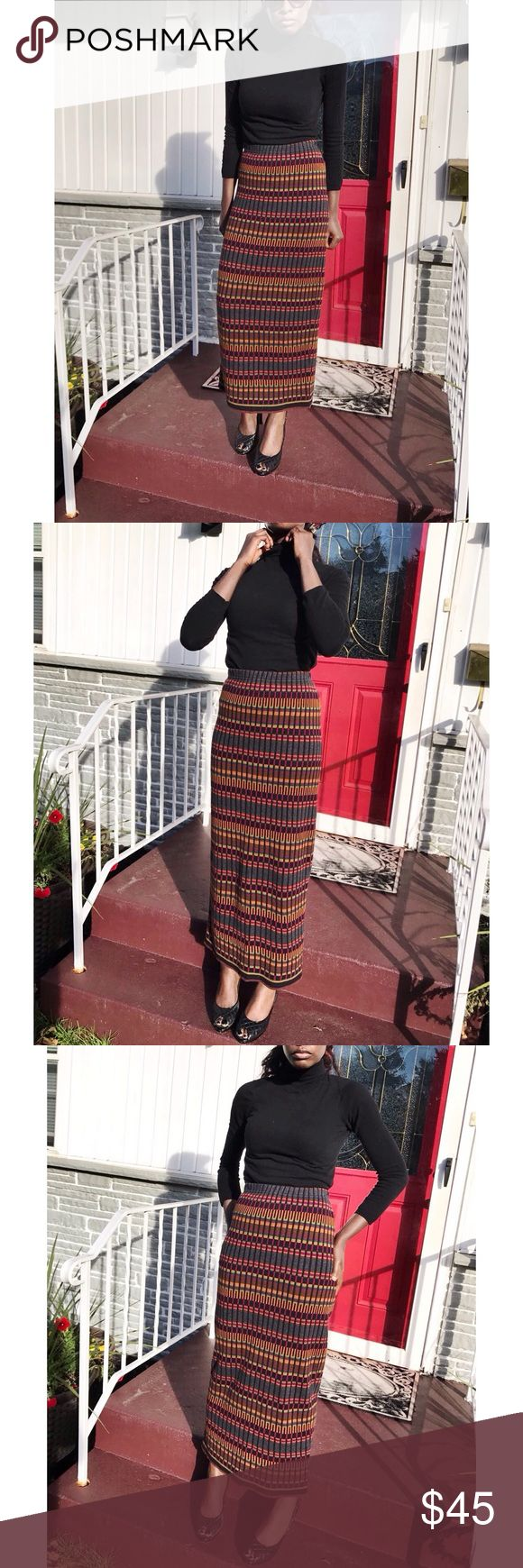 Joan Vass Knit Multicolor Tube Skirt Excellent condition. Spectacular. Size 1. Can wear as a tube dress. Made in USA 🇺🇸  Fabric:  100% Cotton Measurements: Waist: 13.5 inches across Hips: 20.5 inches across Length: 39 inches  Fabric is stretchy so may be able to fit a larger size. Joan Vass Skirts
