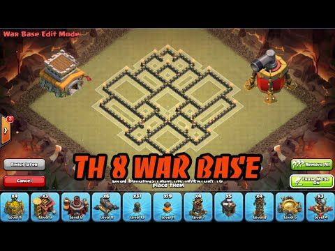 Clash of Clans: Town hall 8/Th8 War Base 2015 anti 3 star!
