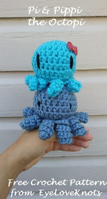 EyeLoveKnots: Pi & Pippi the Octopi - Free Crochet Pattern