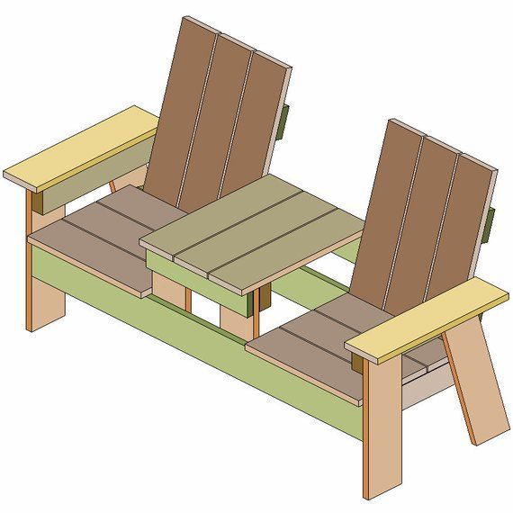 Marvelous Plans For A Two Seater Bench With Built In Table Made Of 16 Customarchery Wood Chair Design Ideas Customarcherynet