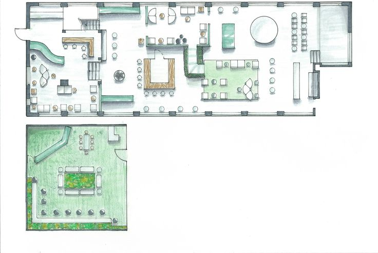 Floor plan of the Gala event