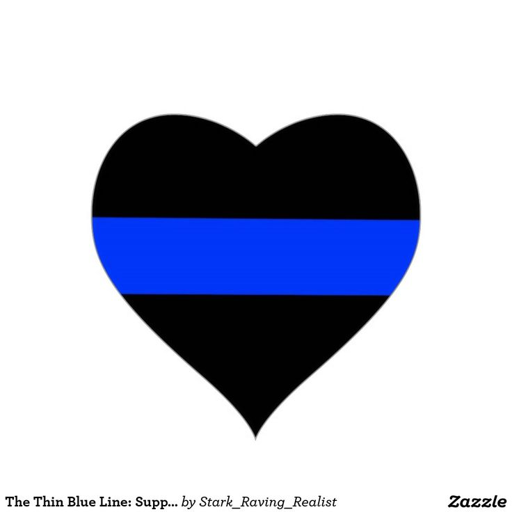 The Thin Blue Line: Support the Police Sticker