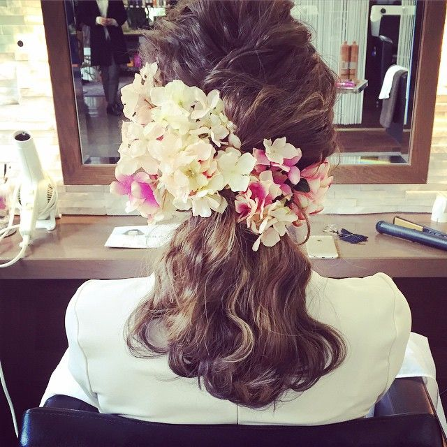 卒業式セット♡ 造花の紫陽花を使って♡ 袴姿も見たかったー♡ #rumiヘアアレンジ