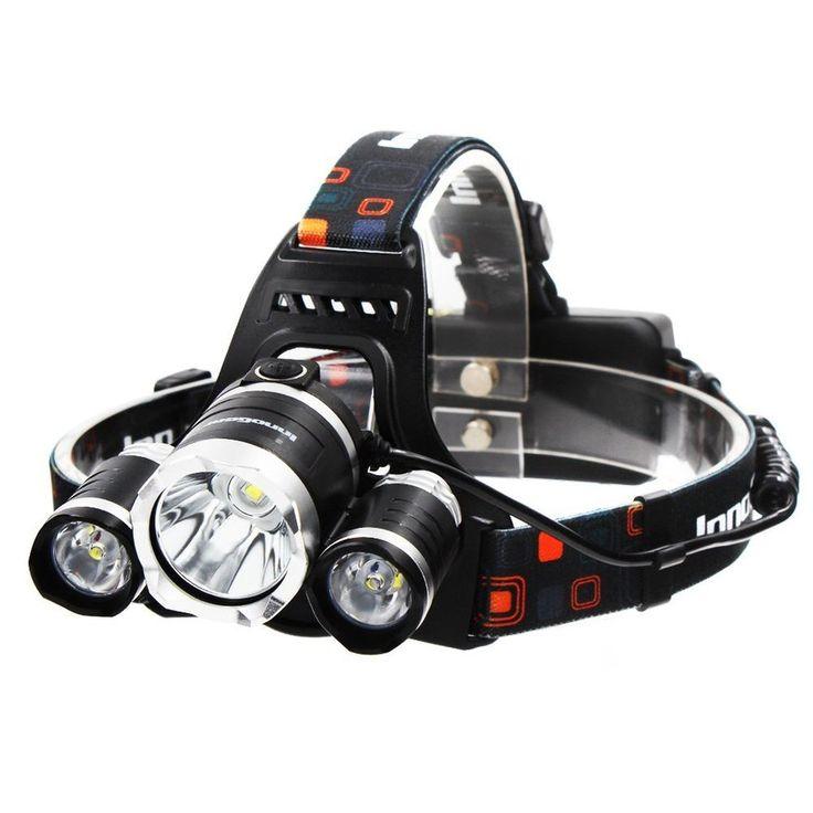 InnoGear 5000 Lumen Bright Headlight Headlamp Flashlight Torch 3 CREE XM-L2 T... #InnoGear